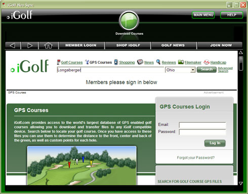 Downloading course information is easy.