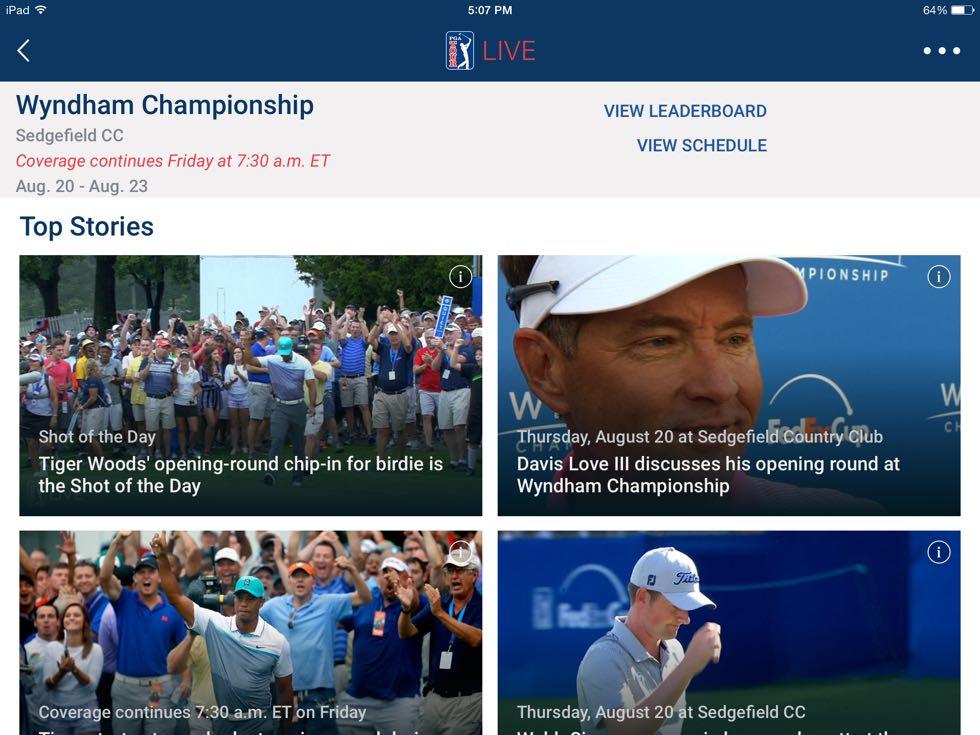 PGA Tour Live App 2