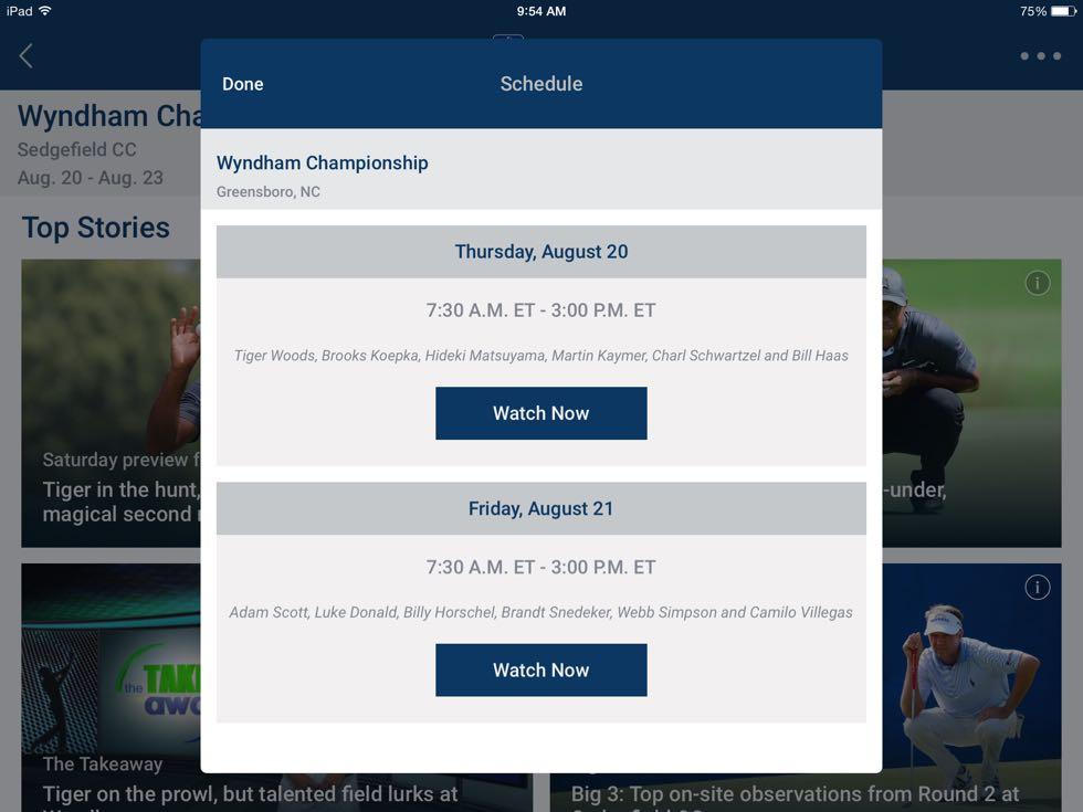 PGA Tour Live App 5