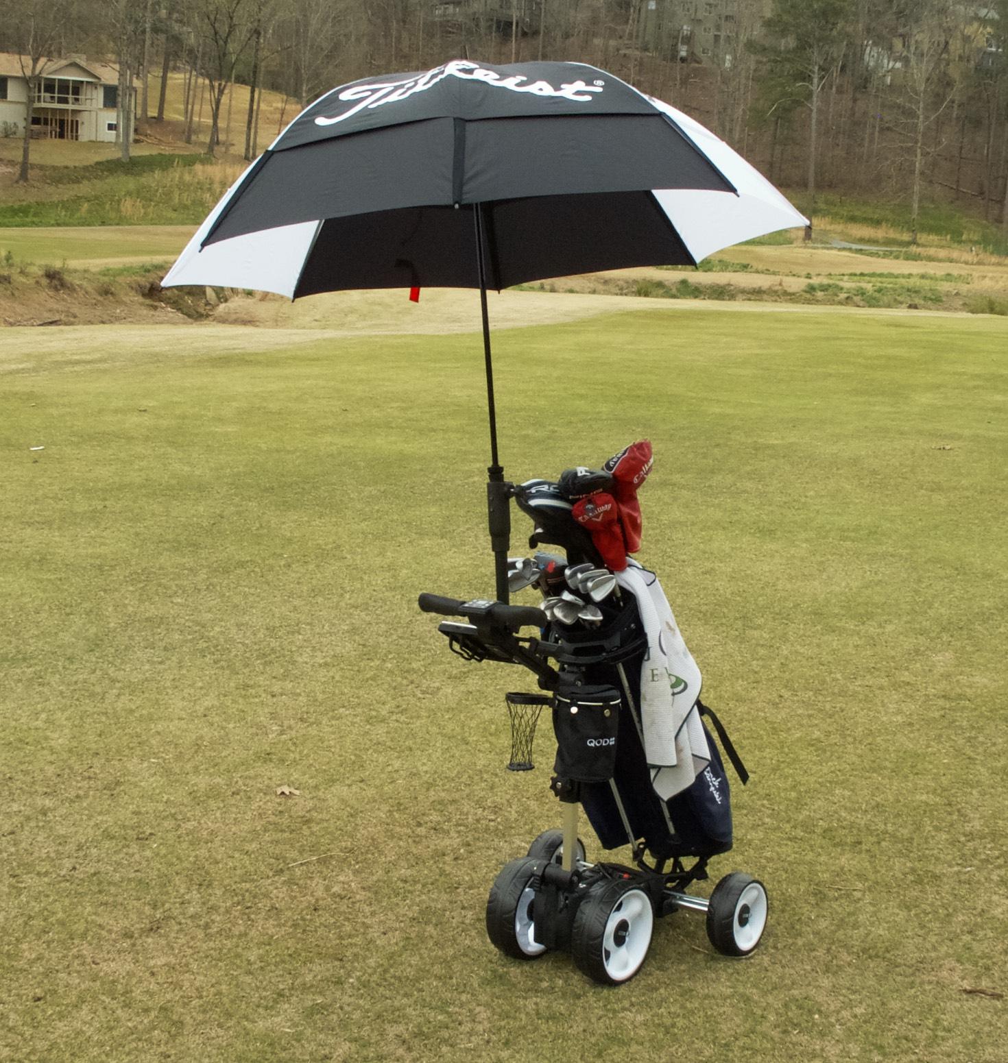 Umbrella Stand Golf: QOD Electric Golf Cart Review (Accessories, Hot Topics