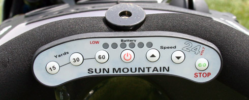 Sun Mountain Speed E Cart Controls