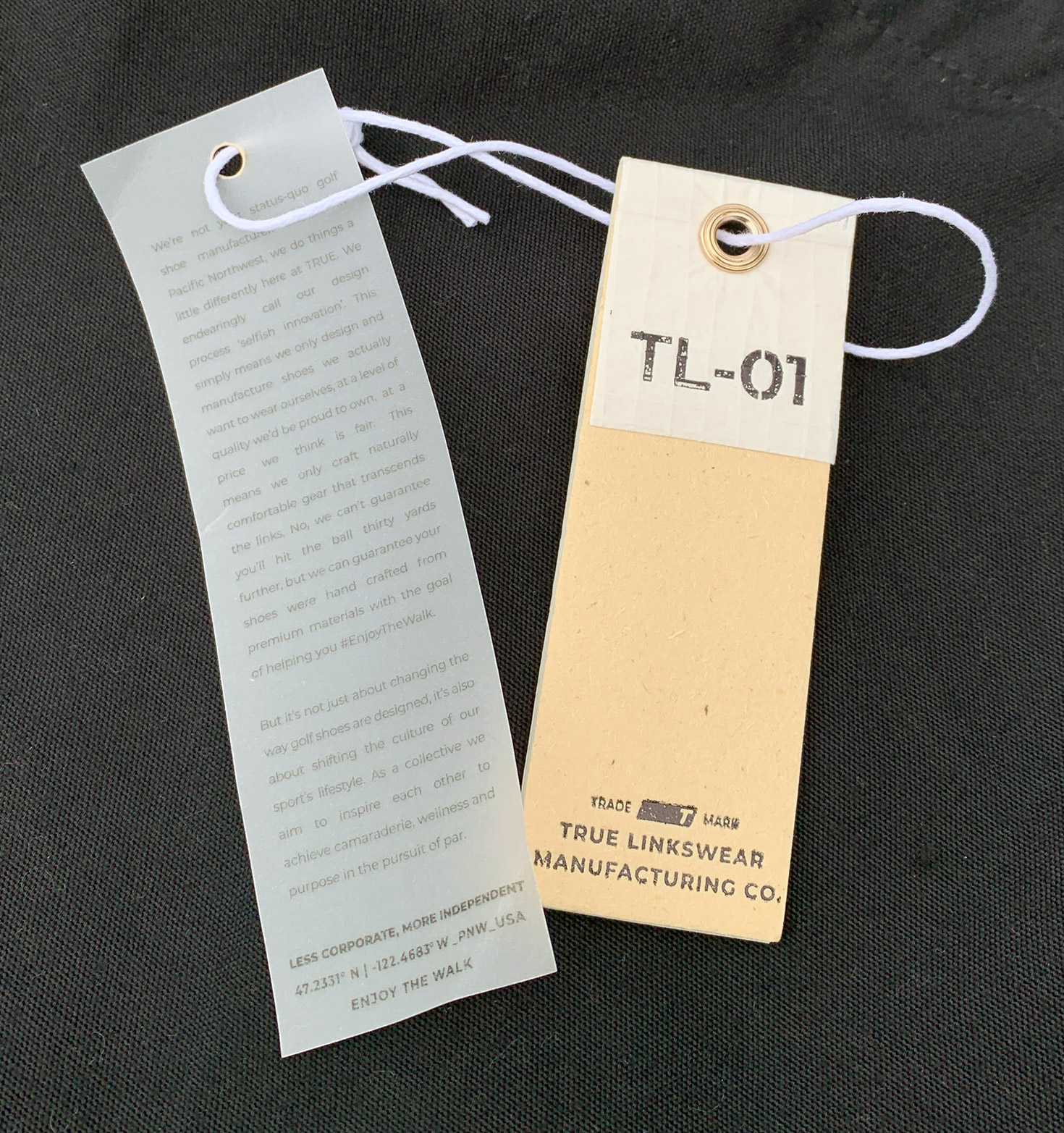 TL-01 Black Tags