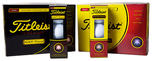 Titleist NXT Tour and NXT Extreme