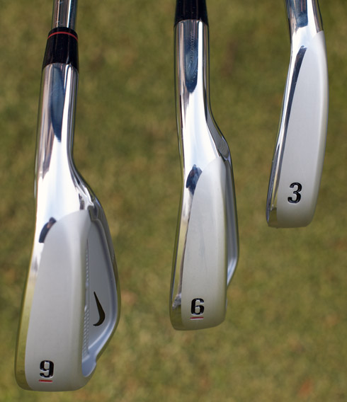 Sole view of the Split Cavity irons