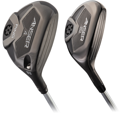 PING Anser 4 wood and 20° hybrid