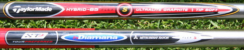 Taylormade Rescue Dual Shafts