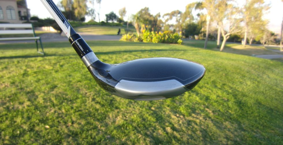 The chrome accent on the back of the club sets it apart without looking gimmicky.