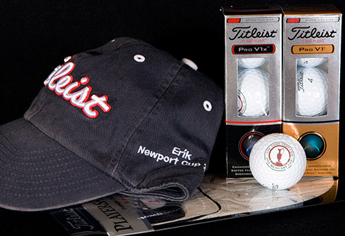 Titleist Hat, Balls, and Glove