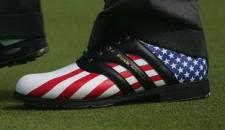 US Flag golf shoes