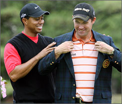 Tiger Woods and Padraig Harrington