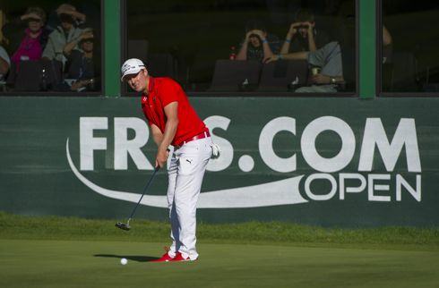 2012 Fry.com Open winner Jonas Blixt on the 18th hole