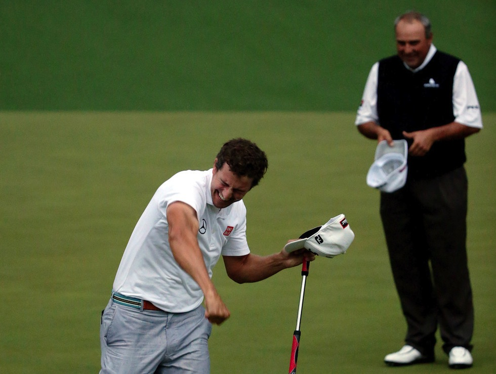Adam Scott 2013 Masters Sunday Fist