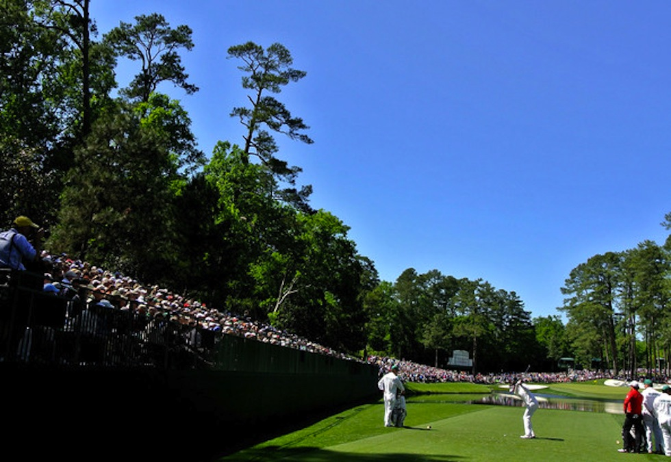 Bubba Watson 2012 Masters Friday 16th Hole