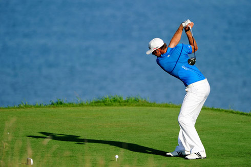 Dustin Johnson Backswing at the PGA 2010