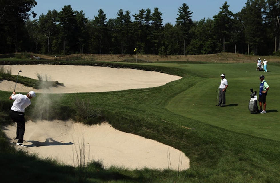 Ernie Els 2012 Deutsche Bank TPC Boston 4th Small Bunker.jpg