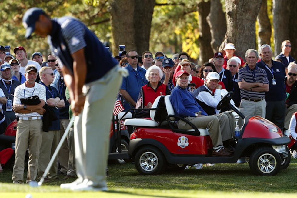George W Bush Tiger Woods 2012 Ryder Cup