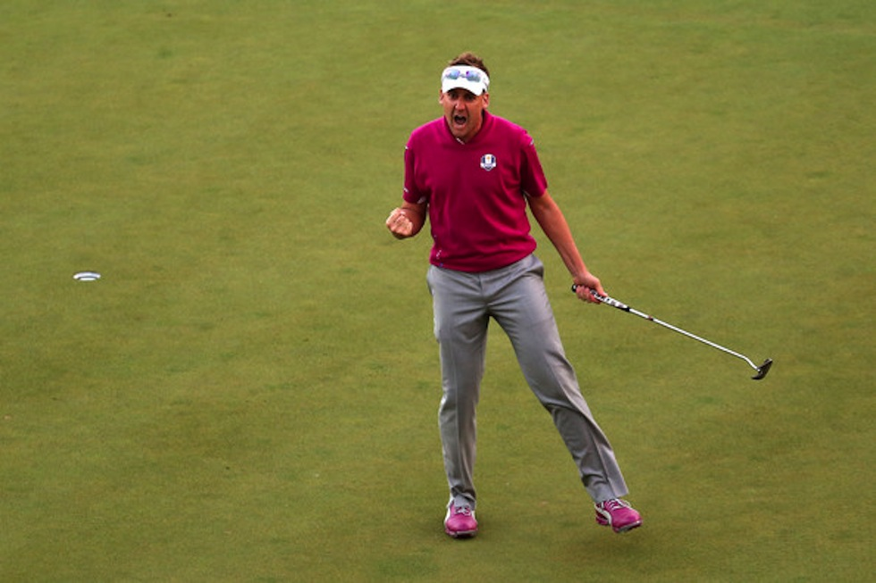 Ian Poulter 2012 Ryder Cup Sunday
