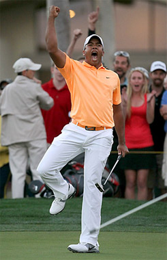 Jhonattan Vegas Celebrating