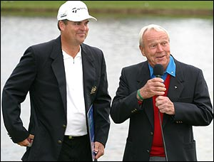 Kenny Perry with Arnold Palmer