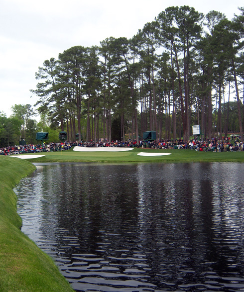 The 16th green