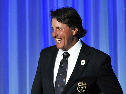 Phil Mickelson at the Hall of Fame