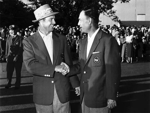 Sam Snead Ben Hogan at Augusta