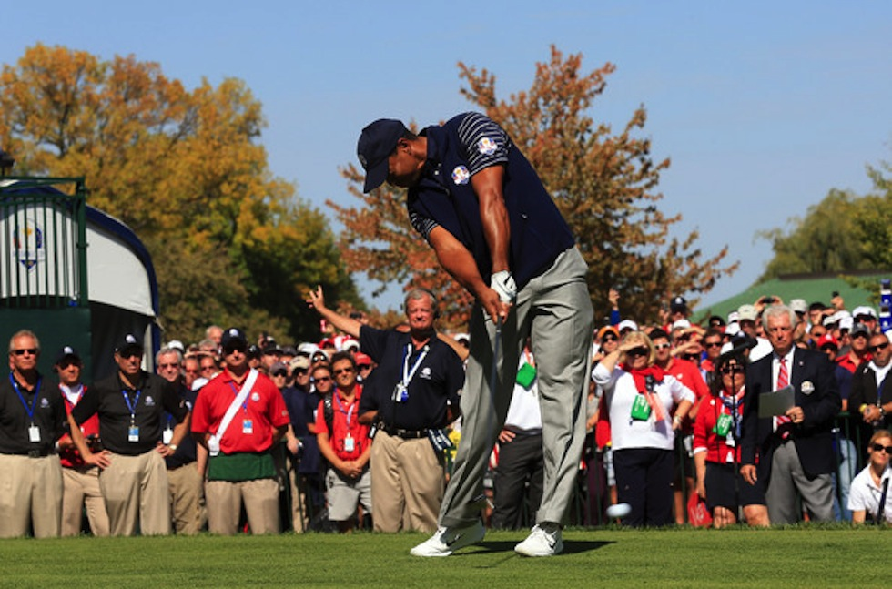 Tiger Woods 2012 Ryder Cup Saturday