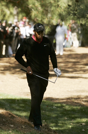 Tiger Woods with Snapped Club