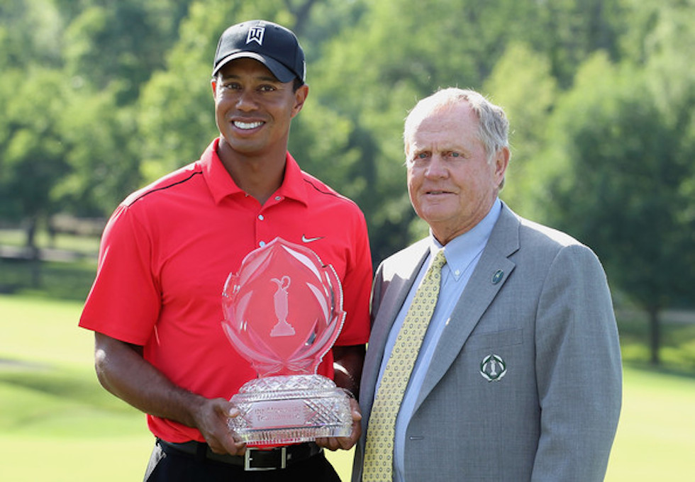 Tiger Woods Jack Nicklaus 2012 Memorial Trophy