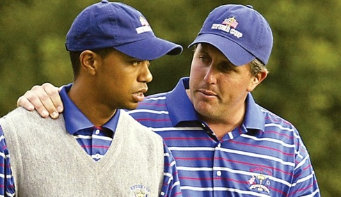 Tiger and Phil at the Ryder Cup