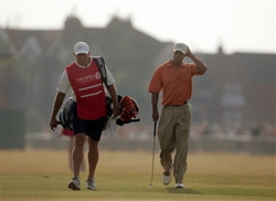 Woods and Williams at the 2006 British Open