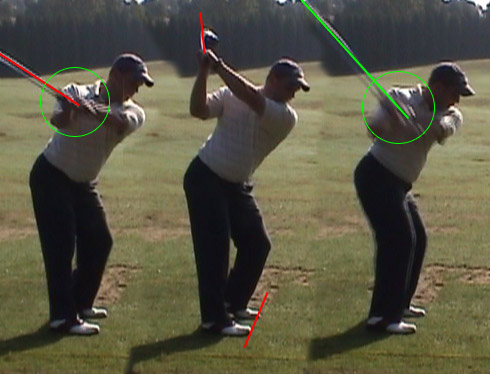 Jeff does good and bad things on his backswing he s laid off with the