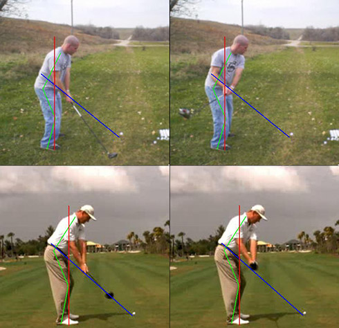 Troy vs Els backswing