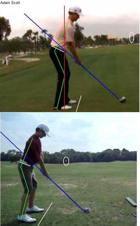 Adam Scott vs Whip It Out setup driver downline