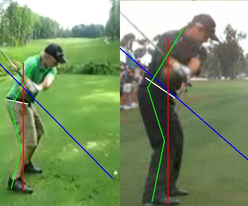 Xavier vs Trevor Immelman downswing driver downline view