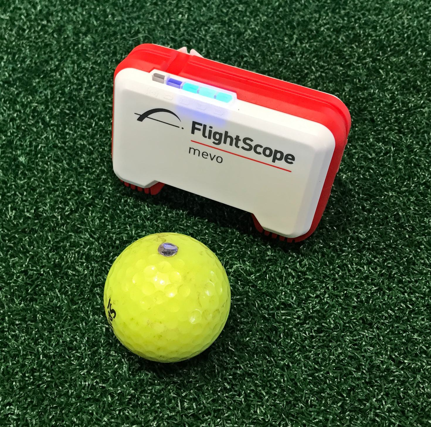 FlightScope Mevo with Golf Ball