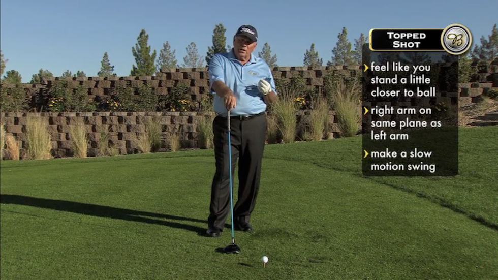Butch Harmon About Golf Topped Shot