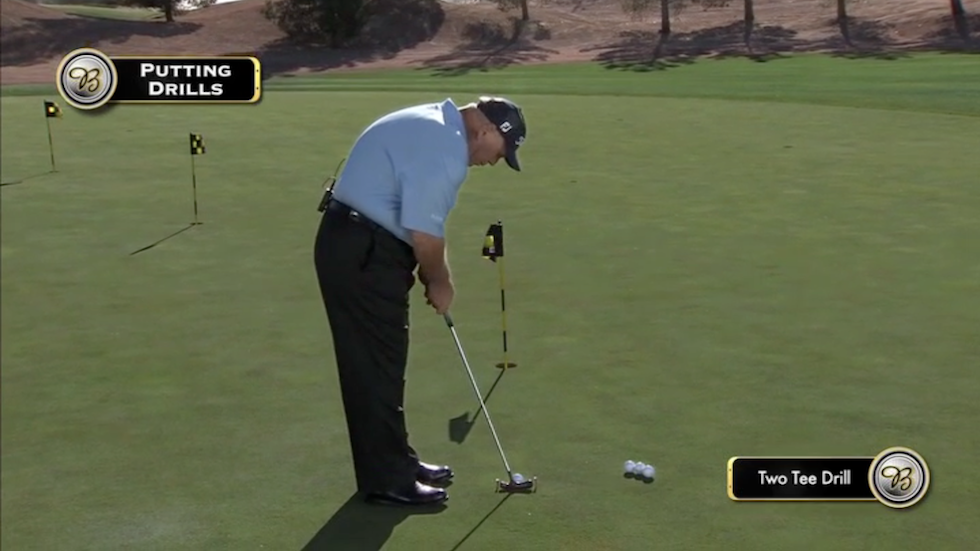 Butch Harmon About Golf Two Tee Drill