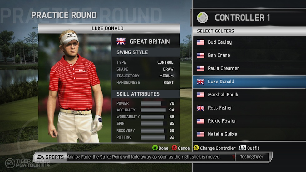 Tiger Woods PGA Tour 14 Swing Style