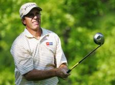 Jerry Pate in the second round of the Senior PGA Championship