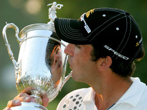 Geoff Ogilvy and the U.S. Open Trophy