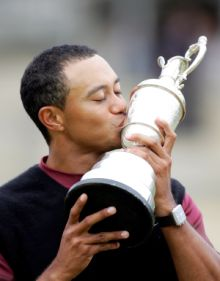 Tiger Woods Claret Jug