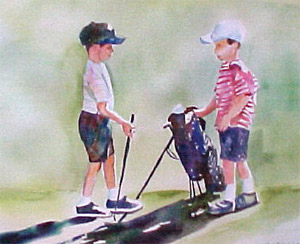 Junior Golf Painting