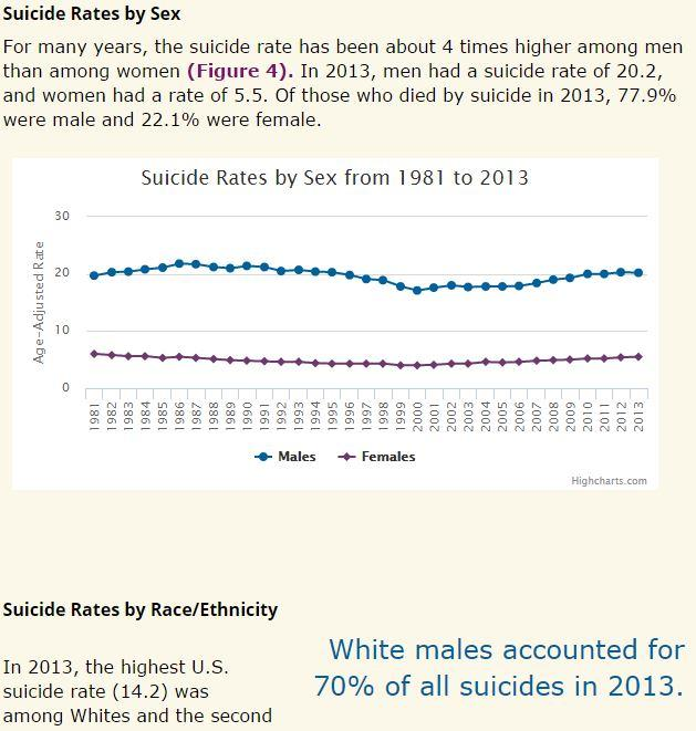 higher suicide rate Suicide rates are defined as the number of deaths deliberately initiated and performed by a person in the full knowledge or expectation of its fatal outcome.