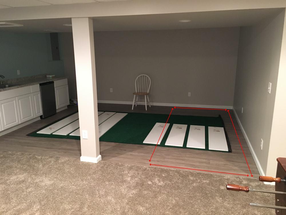 help me design a basement putting green golf talk the sand trap