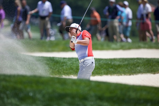 Rickie Bunkered on #9