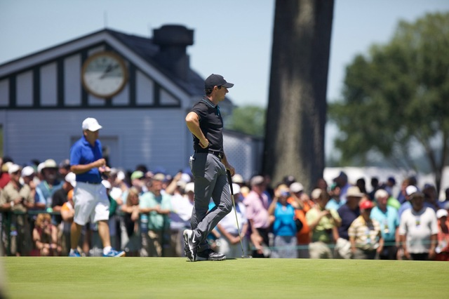 Rory on #9 Green