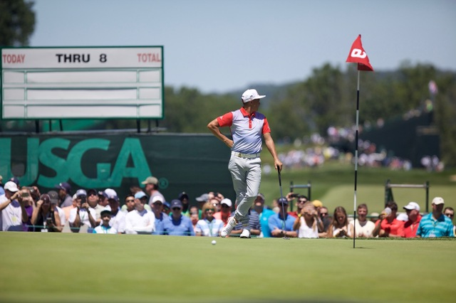 Rickie Standing on #9 Green