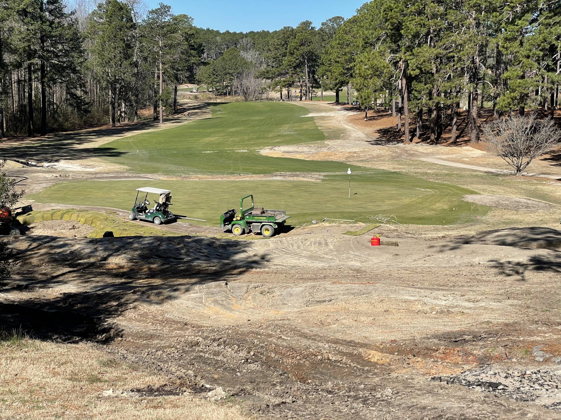 Work on 6th Green
