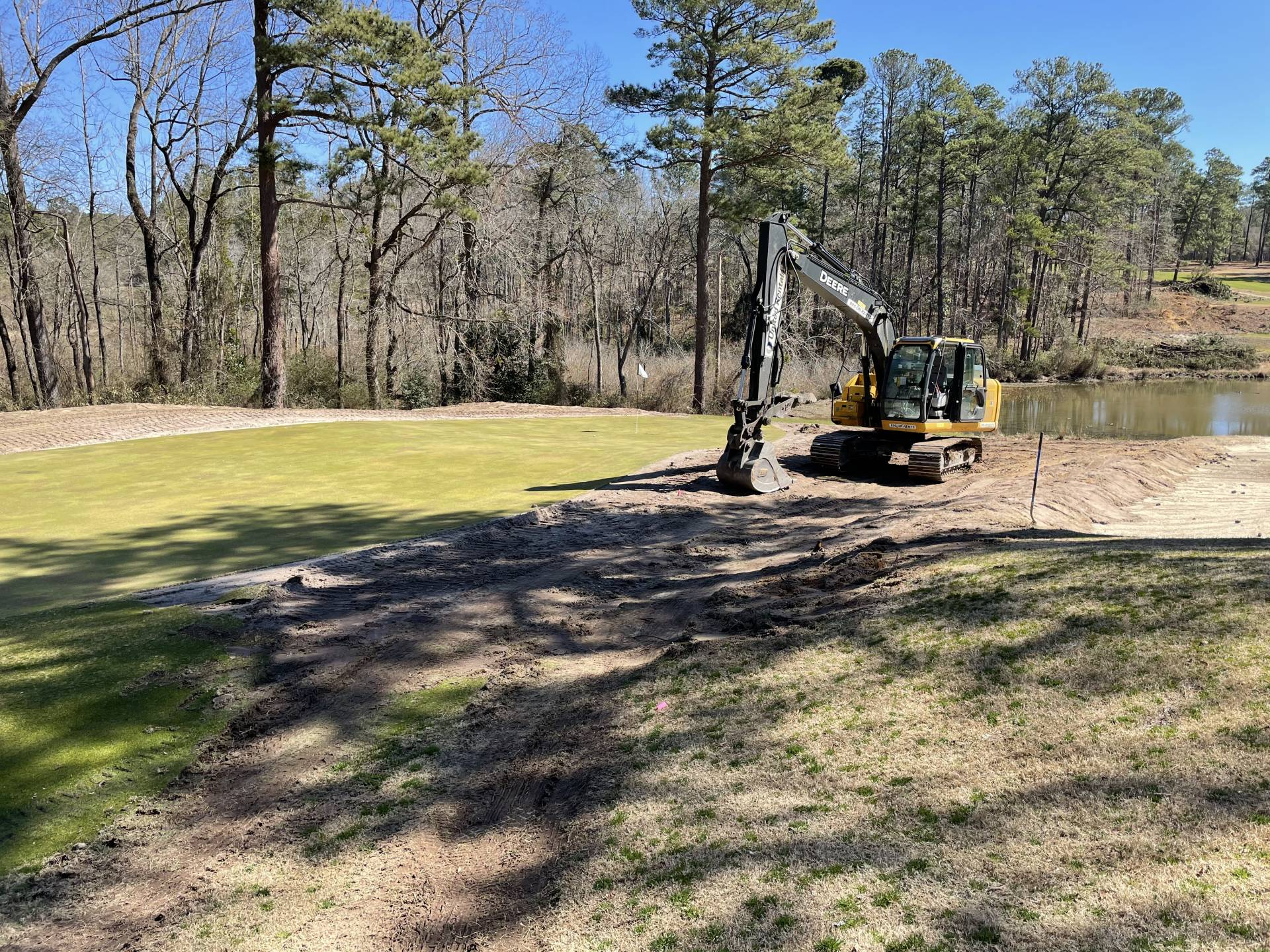 Work on 14th Green